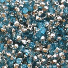 True 2mm Fire Polished, Aqua Labrador - 50